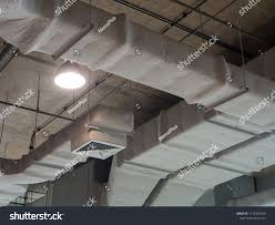 Duct Line Design Building Interior Air Duct Air Condition Royalty Free