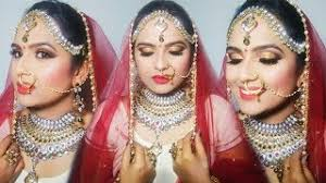 क स कर द ल हन म कअप indian bridal makeup tutorial in hindi day time shimmery eyes glam your face