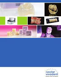 Ivoclar Classic Firing Chart Ivoclar Vivadent 2011 2012 Technical Product Catalog