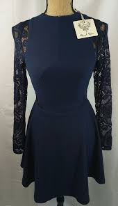 Angel Biba Size Chart Angel Biba Lace Skater Skirt Dress Navy Blue Aus Size 10 Nwt
