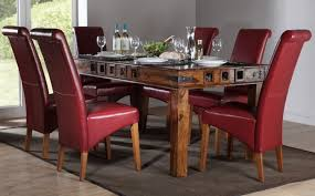 leather dining set of contemporary room chairs a touch cl and elegance in e 26