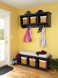 Wall Coat Rack With Baskets
