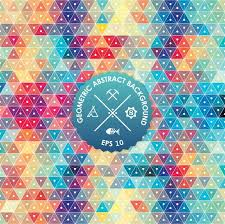 abstract background geometric design vector ilration geometric tesselation of colored surface stained
