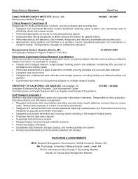 Clinical Research Assistant Resume Cover Letter Clinical Research