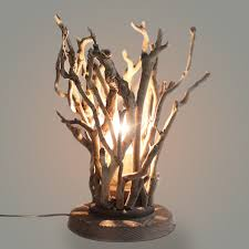 Branches table lamp Chrome Rusticdesklightfixturetreebranches1light Ebay Rustic Desk Light Fixture Tree Branches 1light Twig Table Lamp With