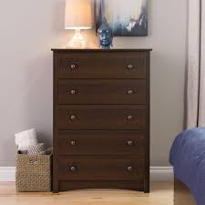 5 drawer dresser espresso.  Dresser Prepac Fremont 5Drawer Espresso Chest To 5 Drawer Dresser
