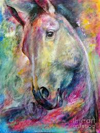 horse painting color dreamer mottled horses by iwona jankowski