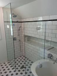 No-Step Walk-In Shower With 3/8