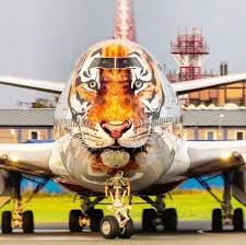 rossiya airlines boeing 747 amur tiger conservation livery so cool