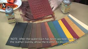 Eco Flo Dye Color Chart How To Use The Eco Flo Waterstains On Leather