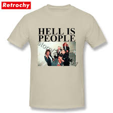 Designer Hell Us 12 1 45 Off Hell Is People Tee Smoking Students Teenagers Fashion Designer T Shirt Homme Short Sleeve Tshirt Fashion Brand Unique Apparel In