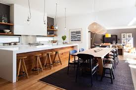 mid size kitchen design. mid-sized contemporary galley medium tone wood floor eat-in kitchen idea in sydney mid size design f