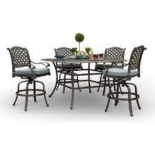 5 piece round patio dining set macan