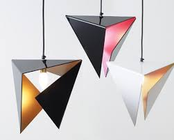 unique pendant lighting fixtures. stealth pendant light is made from a single plane of smooth perspex and folded into unique lighting fixtures g