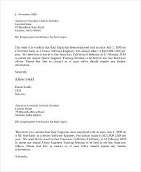 Senior Employment Verification Letter
