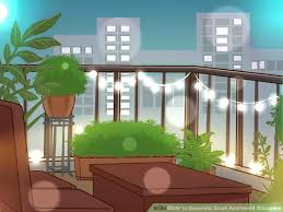 image titled decorate small.  Titled Image Titled Decorate Small Small Apartment  Balconies Step 12 I On Image Titled Decorate Small E