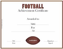 Award Certificate Free Custom Football Certificates 13
