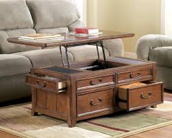 ... Coffee Table, Elegant Brown Rectangle Wood Rustic Storage Coffee Table  With Storage Idea: Incredible ...
