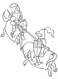 Kleurplaat Ridders Animaatjesnl