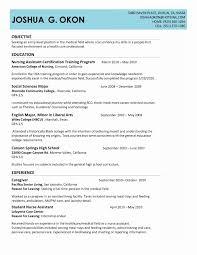 Sample Resume Certified Nursing Assistant 60 Produce Sample Resume for Nursing assistant Position Lookalike 21