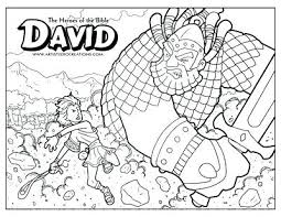 David And Goliath Coloring Page Also And Coloring Page To Make
