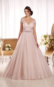 Floor Length Cap Sleeves Ethereal Tulle Ball Gown Wedding Dress