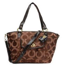 Coach Logo Signature Lock Medium Coffee Totes EHE