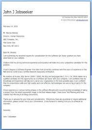 Cover Letter Quality Assurance Cover Letter Cover Letter For Tester