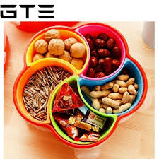 Decorative Fruit Trays GTE Candy Fruit Plate Snacks Food Container With Lid Decorative 58