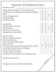 Parent Teacher Conference Form Forms And Template Jmjrlawoffice Co
