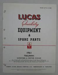 triumph lucas motorcycle parts book