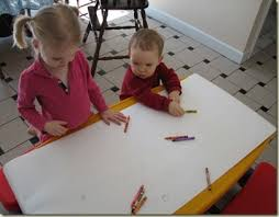preschool art table. Cover A Table In Paper To Create Wonderful Free Art For Groups Experience Todders Preschool T