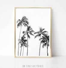 palm tree print tropical wall art