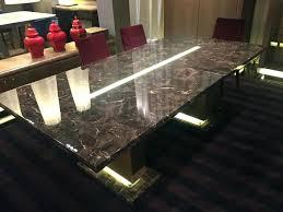dining room tables idea black marble dining table with led light round dining room tables ideas