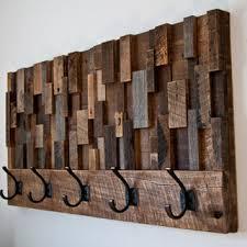 Distressed Wood Coat Rack