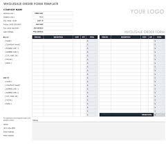 Ordering Spreadsheet Free Order Form Templates Smartsheet