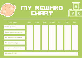 Green And White Toddlers Reward Chart Templates By Canva