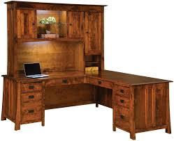 dresden l shaped desk in rustic cherry