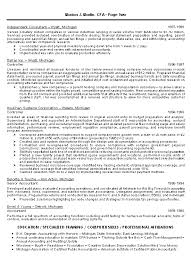 Example Of Accounting Resume Magnificent CPA Resume Example