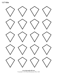 Kite Templates - 1.5 Inch - Tim's Printables