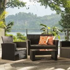outdoor furniture wicker. Simple Wicker Charmain Sofa Set With Cushions Intended Outdoor Furniture Wicker