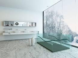 Modern bathrooms Vanity Seethrough Tub In Modern Bathroom The Spruce 14 Ideas For Modernstyle Bathrooms