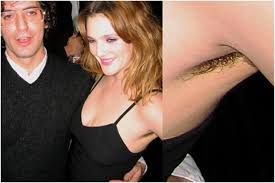 Drew barrymore hairy armpit pics