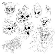 Tetování Lebka A Růže