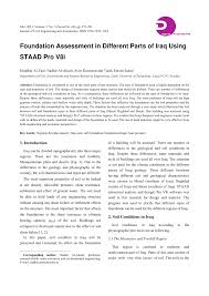 Practical Foundation Design With Staad Foundation Advanced Pdf Foundation Assessment In Different Parts Of Iraq Using