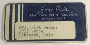 New york ny 10001 new york & company, inc corporate phone number: Vintage Paper Lerner Shops Charge Plate Credit Card Rare In Good Condition 4 95 Picclick