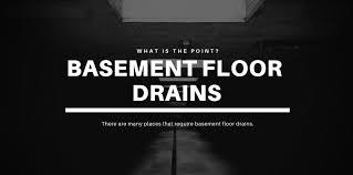 where do basement floor drains go a
