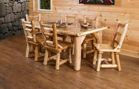 Amish Kitchen Furniture White Cedar Dining Set