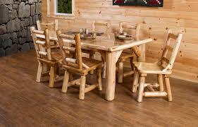 Log Dining Room Tables White Cedar Dining Set