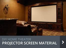 home theater projector screen material